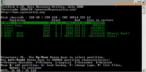 восстановление данных linux
