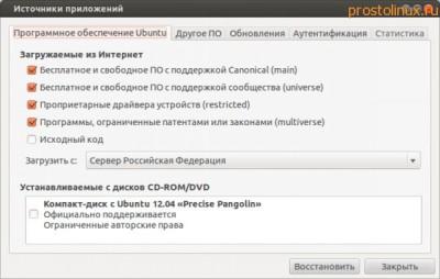 Источники приложений Ubuntu
