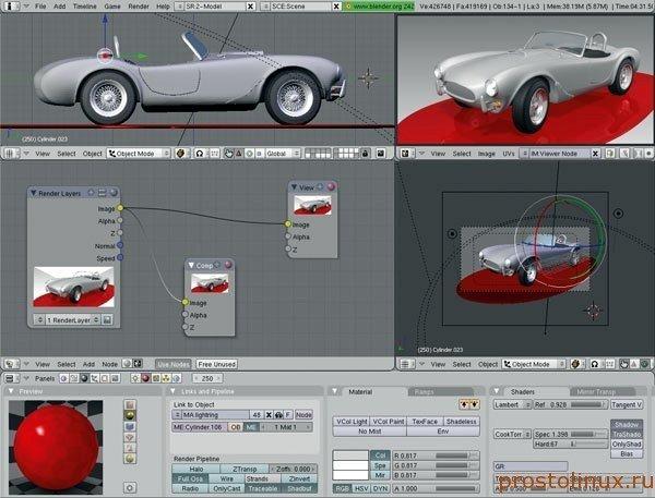 Программа для 3d анимации в Linux