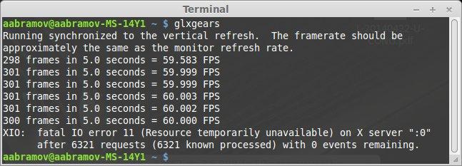 проверить производительность видеокарты в Linux