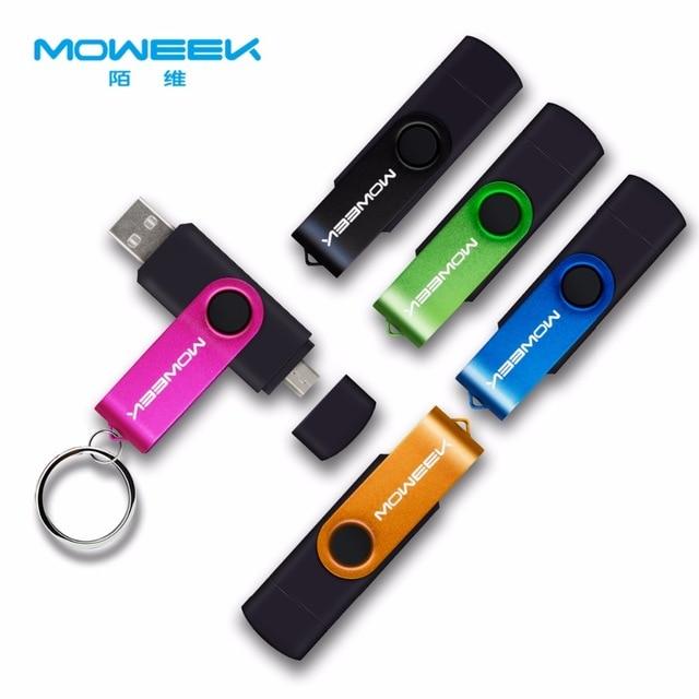 Moweek многофункциональная usb-флешка 128 ГБ 64 ГБ cle USB Флешка 32 ГБ Флешка 16 ГБ 8 ГБ 4 ГБ usb 2,0 карта памяти для android